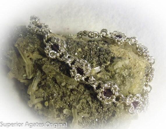 SALE Amethyst Swarovski Romanov Bracelet