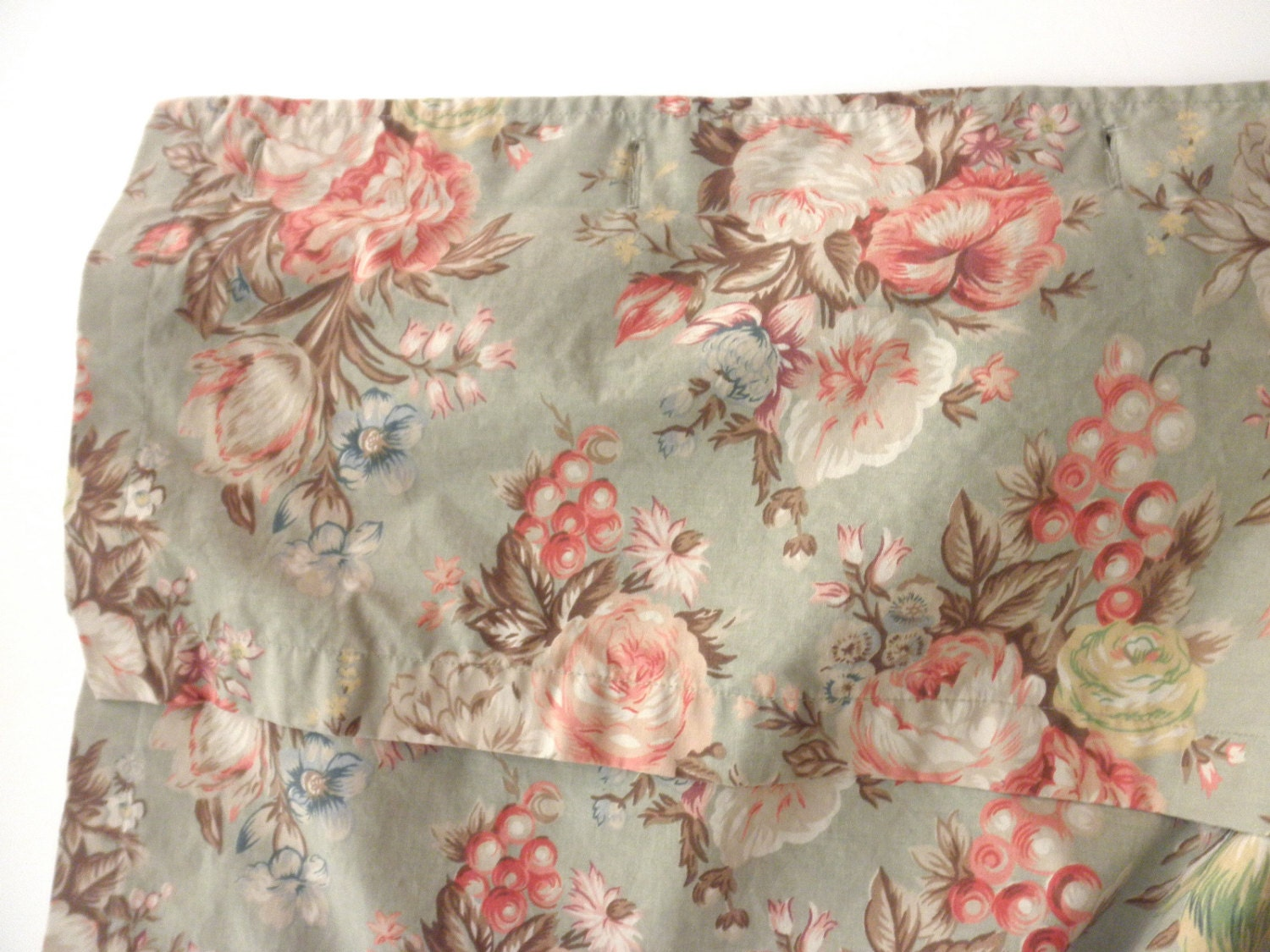 Shabby Chic Ralph Lauren Shower Curtain Floral Flowers