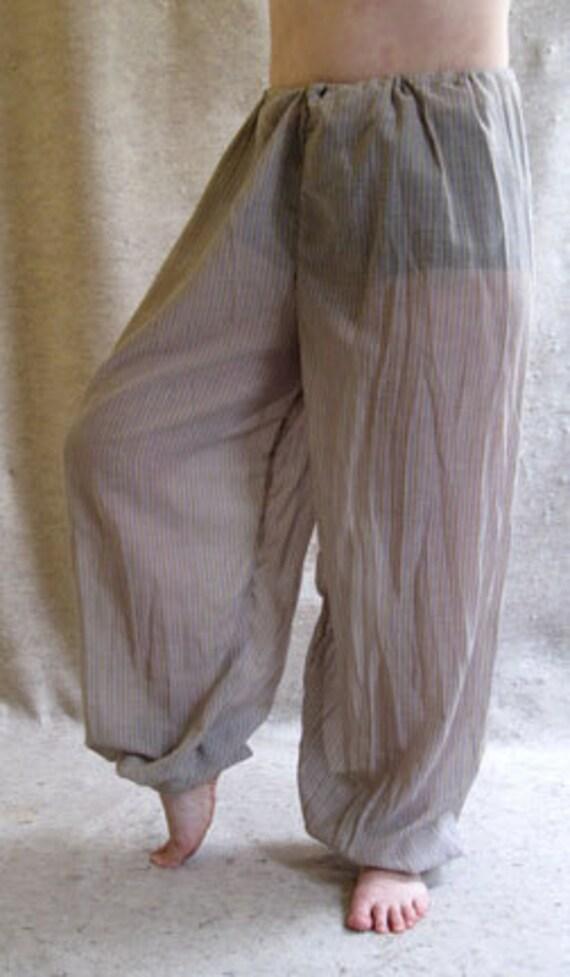Harem Pants Sheer Purple Stripes Waist/Hips up by ...