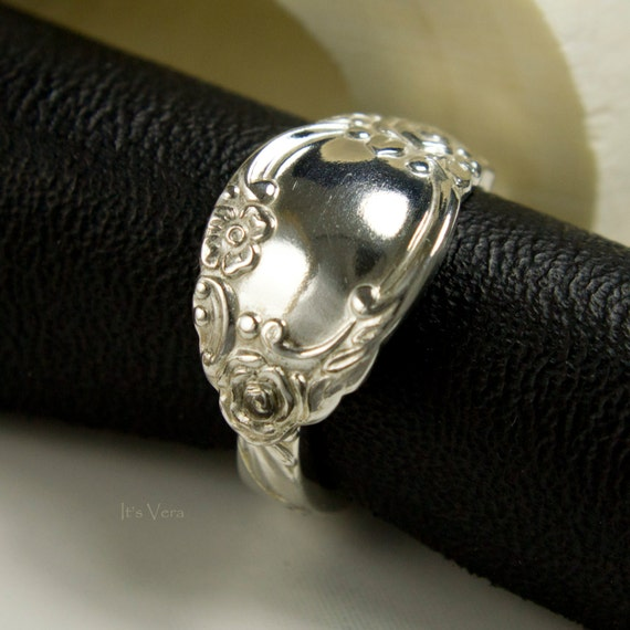 simple boho spoon ring silver promise by itsvera on etsy