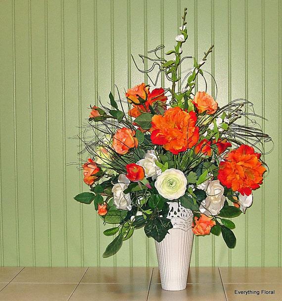Custom Made Silk Floral Arrangements | Large floral ... |Large Spring Floral Arrangements