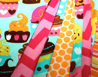 Fabric Bunting - Cupcake Sweetheart