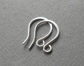 Six pair small sterling silver ear wires 20g, ear hook, silver minis