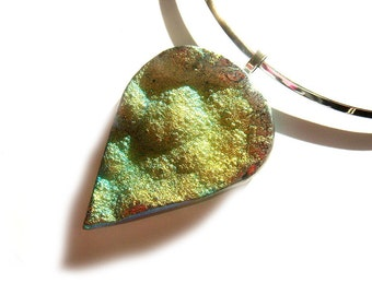 Rainbow Titanium Druzy Statement Necklace