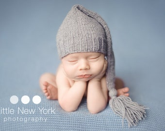 20% off SALE Newborn photo prop, newborn hat, newborn boy, newborn girl, knit newborn hat, newborn props, newborn elf hat. Choose your color