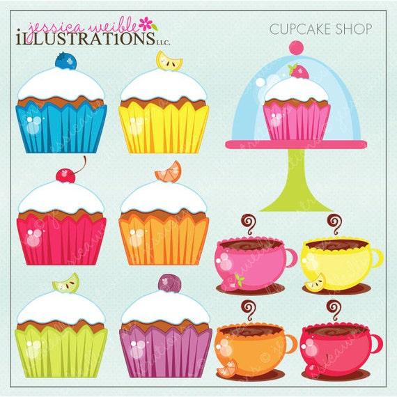 Cupcake Clipart Cute Cupcake Shop Cute Digital