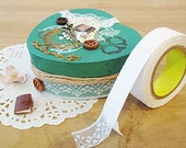 Tulle Lace Adhesive Fabric Tape - 26.White (0.7in)