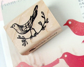 Tree Branch Bird Stamp (1.6 x 1.2in)