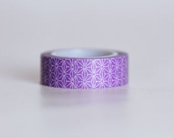 Retro Violet Washi Tape-  Single Roll 10 m