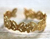Gold Cuff Bracelet, Butterflies, bridesmaids gift