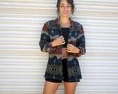 southwestern blanket blazer // bohemian jacket