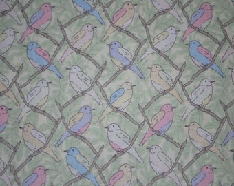 Victorian Modern Pastel Birds -- Full or Half Yard Andover Quilting Fabric