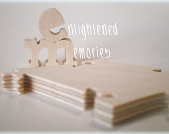 24 Piece Blank Wooden Jigsaw Puzzle 8x 11 inches
