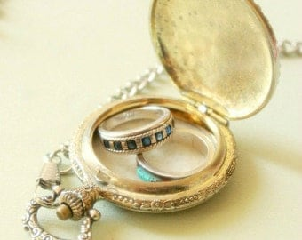 Gold pocket watch ring pillow, fall wedding ring bearer pillow, ring bearer pillow, ring pillow, gold pocket watch, wedding 'baratheon'