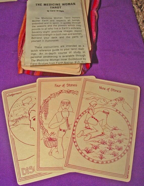 Vintage MEDICINE WOMAN TAROT Card Deck Carol By Back2theEarth