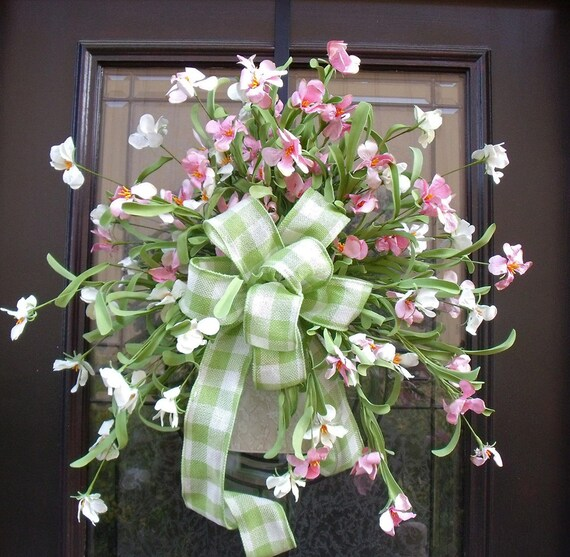 Mothers Day Wreath Spring Wreaths Spring Wall Arrangement
