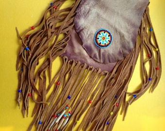Deer Skin Fringe Boho Bag