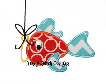 CatchOfTheDay Fish 1 Applique Machine Embroidery Design Lures INSTANT DOWNLOAD