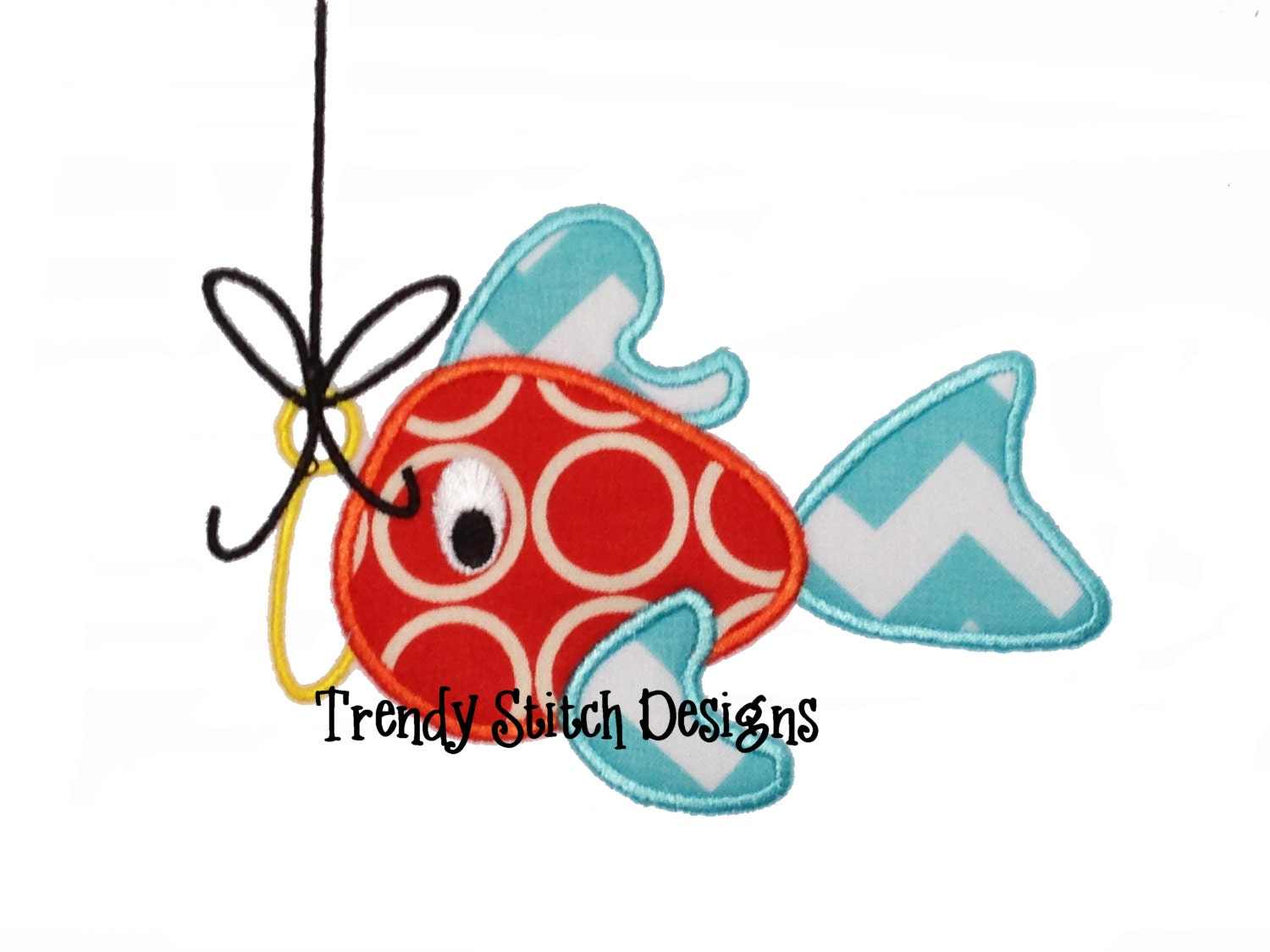 catchoftheday fish 1 applique machine embroidery design lures