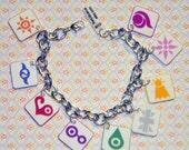Digimon Crest Charm Bracelet