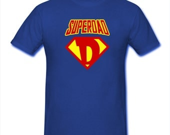 SuperDad T-Shirt Super Dad Tee Hero Father Daddy Fathers Day Style 2
