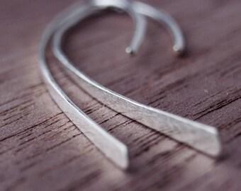 Stick Earrings in Sterling Silver