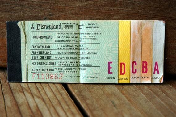 Disneyland 1977 Ticket  Book