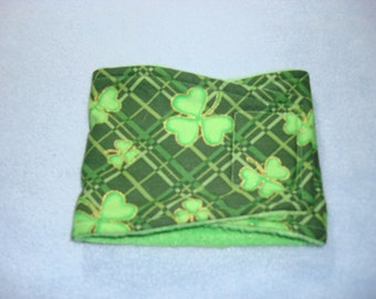 St Patricks Day Dog Belly Band - Male Dog Diaper - Green Plaid with Shamrocks - XS - Large