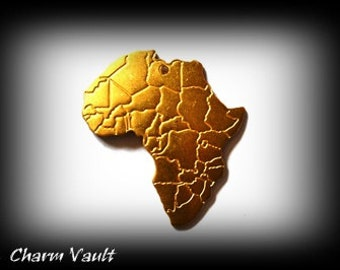 CLOSEOUT SALE 6 Africa Pendants Raw Brass Charms Stampings Jewelry Findings (156)
