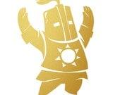 Sunbro Praise the Sun Metallic Gold Vinyl Decal for Smart Phone, Car Window or Laptop