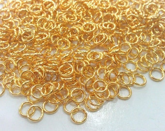 100 Pcs (5 mm) Gold Plated Brass  jumpring ,Findings G147