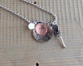 Personalized Girls Lacrosse Sports Charm necklace custom stamped charm Mommy Charm