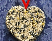 Bird Seed Feeder 1/4 lb. Heart Shape Ornament Cake