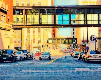 Colorful Streets of St. Paul, digital Art Photo, office art, wall art, home decor, pop art, office  art, Minnesota art