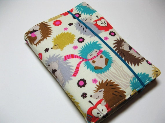 Children's Crayon Wallet Coloring Case - Happy Hedgehogs - Includes Crayons and White Notepad - Ready to Ship