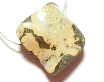 Boulder Opal Bead -  Rectangular Opal With Pretty Yellow Coloring - Chunky Opal