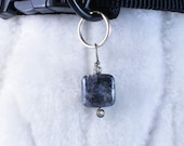 Melancollie - melancholy, people pendant or Dog collar charm pet jewelry, blue labradorite gemstone