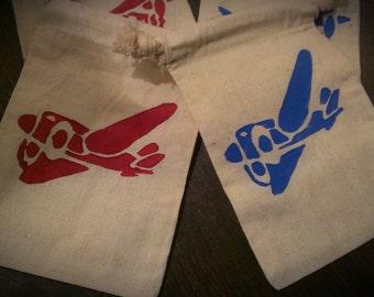 12 Airplane theme favor / treat bags