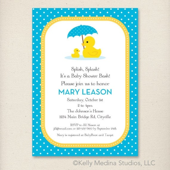 Ducky Invitations Baby Shower with nice invitation layout