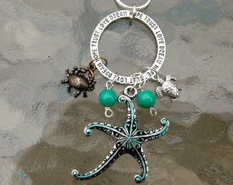 Charm Pendant - Sentimental Ring, Sea Star, Crab, Turtle
