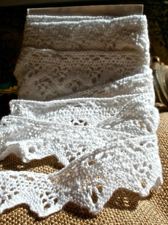 Vintage  trim handmade lace crochet lovely Dolls & Bears 3 yards long sewing cards bridesmaid Wedding decor
