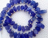 Brand New, Amazing NATURAL TANZANITE Hammered Rock TIP Drilled Nuggets,8-10mm,1/2 Strand,Amazing Rare Item