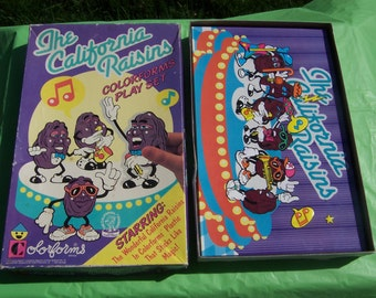 The California Raisins Colorforms set with clinging vinyl pieces