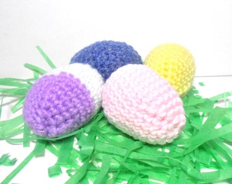 Crocheted Colored Eggs
