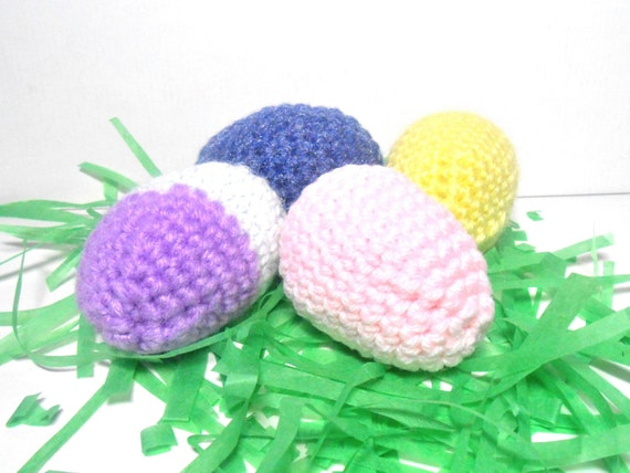Crocheted Colored Eggs,  Easter Eggs, Decoration Eggs