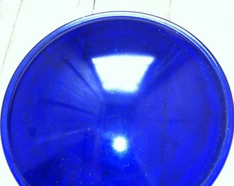 vintage glass lens blue col bolt blue