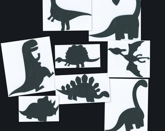 DIY Dino toppers dinosaur cupcake toppers set of 16