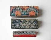 french embroidery stamps 3 vintage stamps