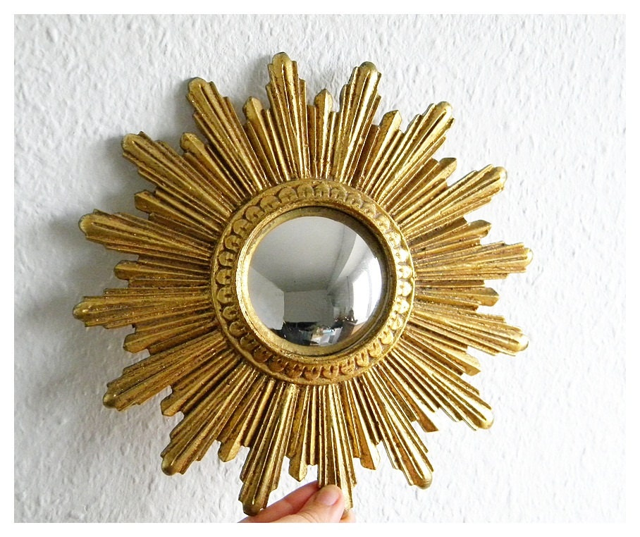 Vintage French Sunburst Mirror By Thehopetree On Etsy
