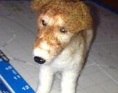 Custom Made Neede Felted Miniature Animals - Jack Russell